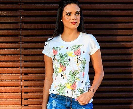 Tshirt cacatua/abacaxi