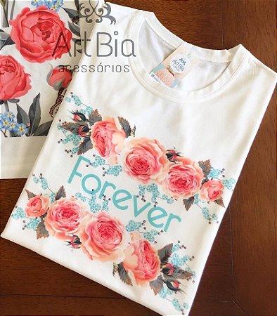 tshirt floral forever