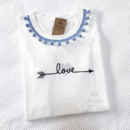 Tshirt love pompons