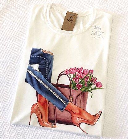 Tshirt jeans pedrarias