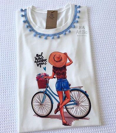 Tshirt Girl Pompom