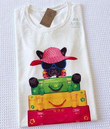 Tshirt buldogue férias