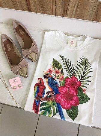 Tshirt araras hibisco