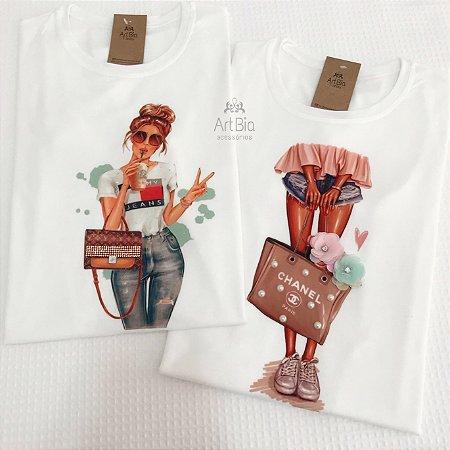 Tshirt bolsas estilo