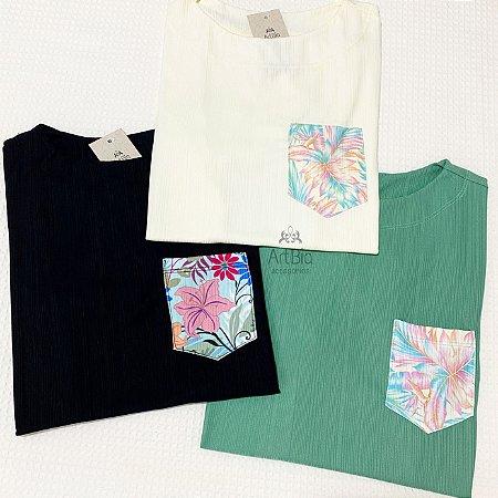 Tshirt bolsos florais