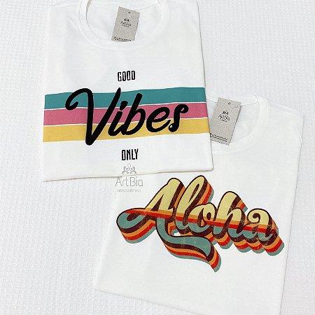Tshirt good vibes e aloha