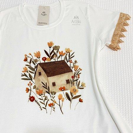 Tshirt casa floral