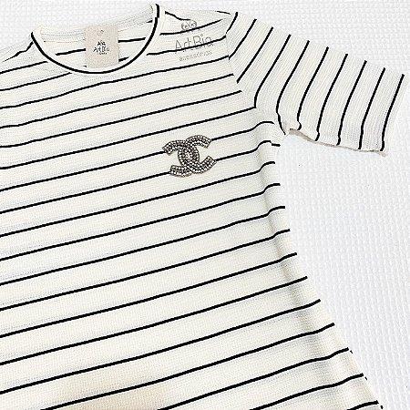 Tshirt listras P&B (tam. Único)