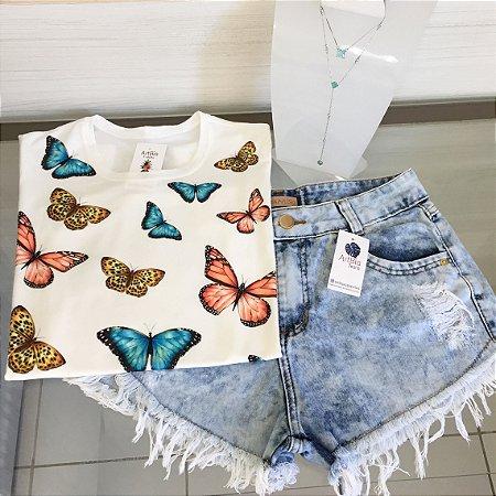 Tshirt borboletas