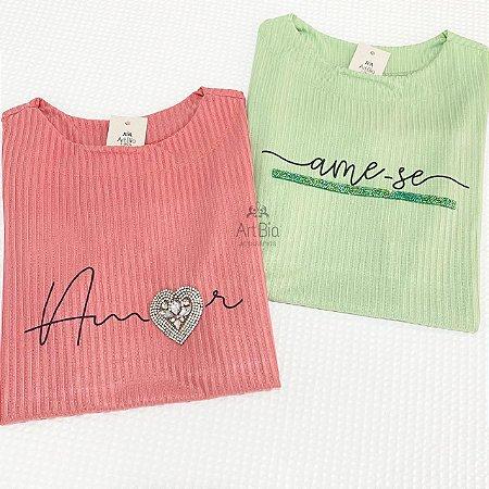 Tshirt Amor e Ame-se Canelada