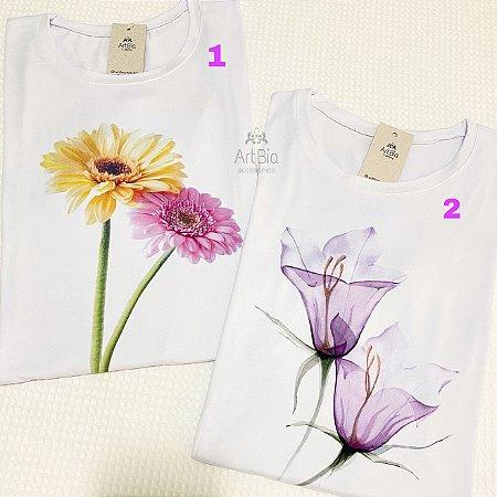 Tshirt orquídea e gerbera
