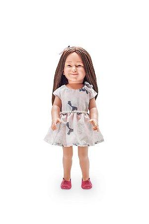Vestido floral para bonecas de até 46 cm Julia Silva By Anuska