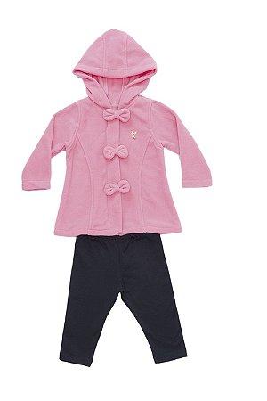 Conjunto Bebê com legging e casaco em Soft
