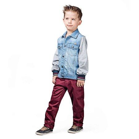 Conjunto kids em sarja com jaqueta jeans