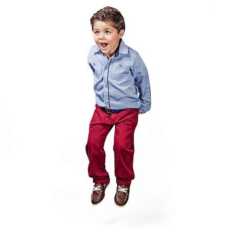 Conjunto infantil camisa e calça