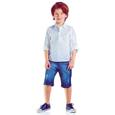 Camisa branca menino