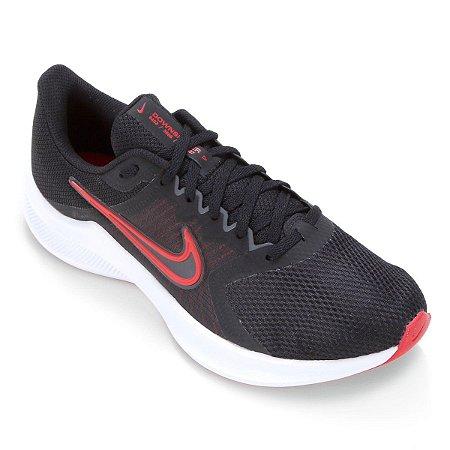 Tenis Nike Downshifter 11 Preto/Vermelho Masculino