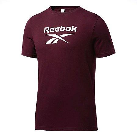 Camiseta Reebok Cl F Vector Bordo Masculino