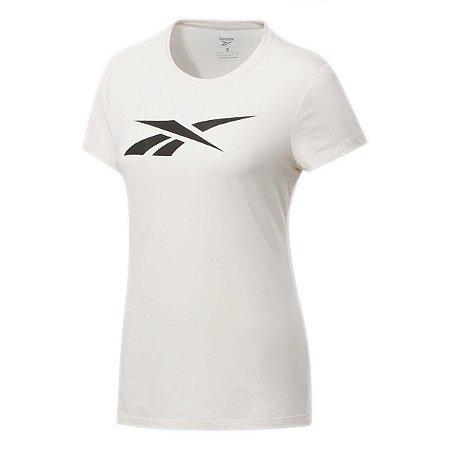 Camiseta Reebok Te Graphic Vector Slim Rosa Claro Feminino
