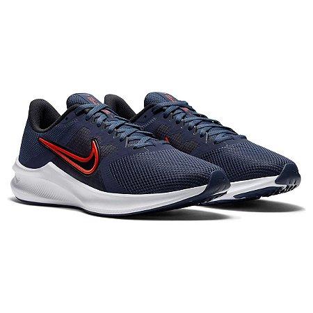 Tenis Nike Downshifter 11 Azul Marinho/Vermelho Masculino