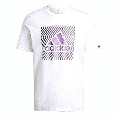 Camiseta Adidas Grafica Colorshift Branco/Roxo Masculino