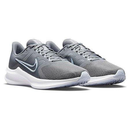 Tenis Nike Downshifter 11 Cinza/Azul Feminino