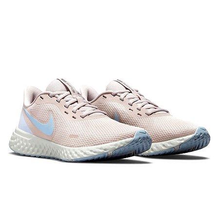 Tenis Nike Revolution 5 Rosa/Azul Feminino