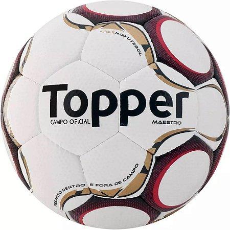 BOLA CAMPO TOPPER MAESTRO TD1 BCO VERM - 10K Sports d18ab553b8af7