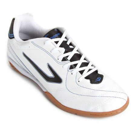 Tênis Salão Topper Titanium 6 Branco Preto Azul - 10K Sports 056db1556cd2b