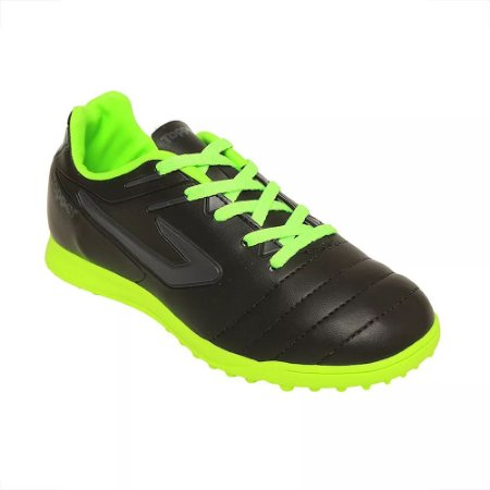 5effb7fd59 Chuteira Suíço Topper Boleiro Society Infantil Preto Verde - 10K Sports