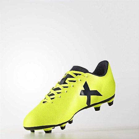 644452394b334 Chuteira Campo Adidas X 17.4 Fxg Verde Limão Preto - 10K Sports