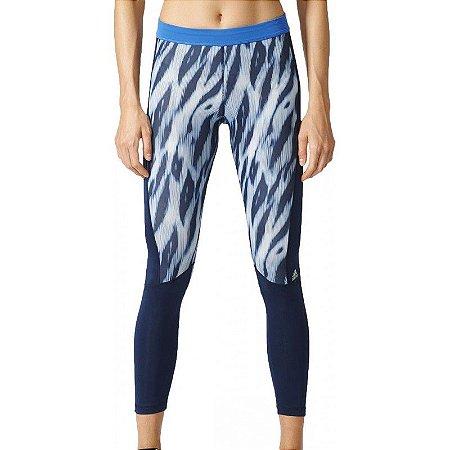 Calça Legging Adidas TF Print Azul