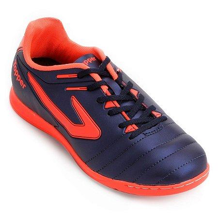 Tênis Salão Topper Boleiro Marinho Coral Neon - 10K Sports 6d9dd2599acec