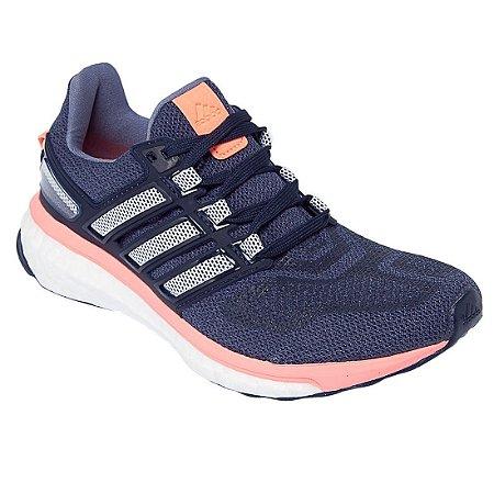 Tenis Adidas Energy Boost 3 Marinho Coral - 10K Sports 5d41530d11a37