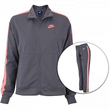 Agasalho Nike NSW Cinza/Coral