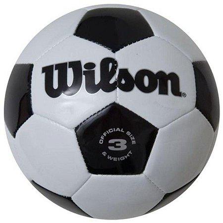 Mini Bola Futebol Wilson Preto/Branco