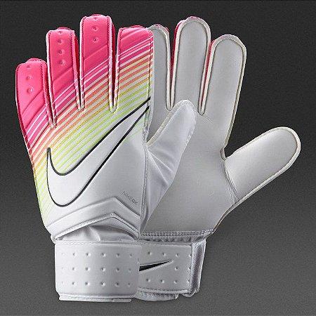 71bf60f21 Luva Goleiro Nike GK Match Branco Rosa - 10K Sports