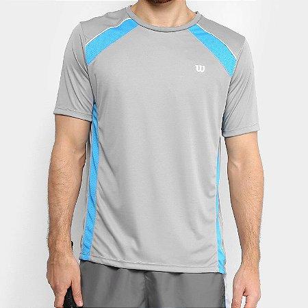 Camiseta Wilson Tour Cinza/Azul