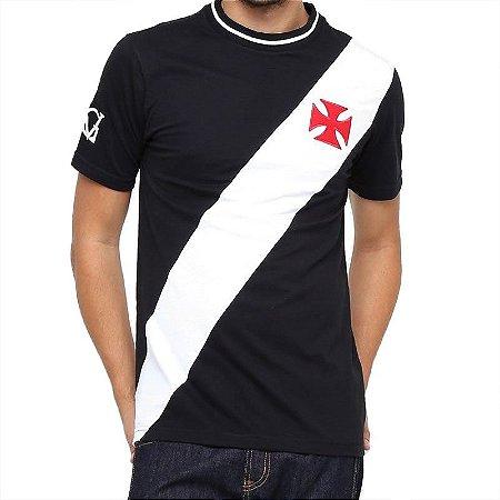 Camiseta Vasco da Gama Recorte Preto Branco - 10K Sports 3c2dc4f547c6e