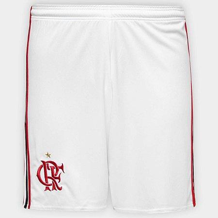 039b3361acf41 Bermuda Futebol Adidas Flamengo Branco Preto Vermelho Infantil