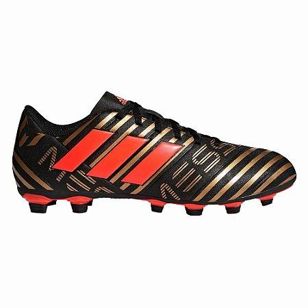 2a4e2c9fa11 Chuteira Campo Adidas Nemeziz Messi 17.4 Marrom Vermelho - 10K Sports