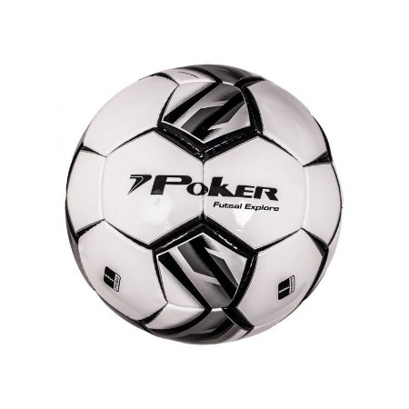 Bola Futsal Poker Explorer Preta/Prata