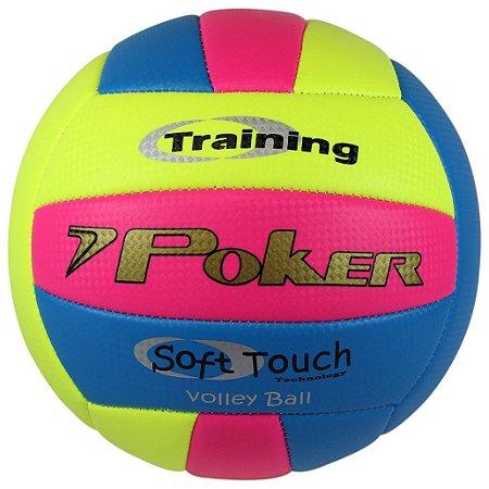 Bola De Volei Poker Training Neon Am/Rs/Az