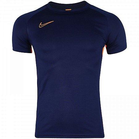 Camiseta Nike Dry Acdmy Azul/Laranja