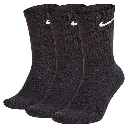 Kit 3 Meias Nike Cano Alto Preta