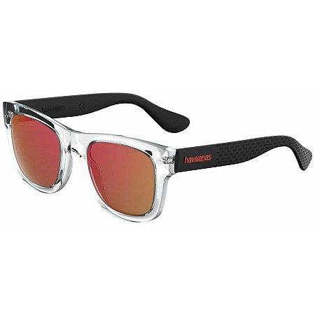 Óculos Havaianas Paraty G Transparente/Laranja