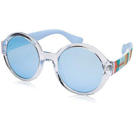Óculos Havaianas Floripa M Transparente/Verde Listrado