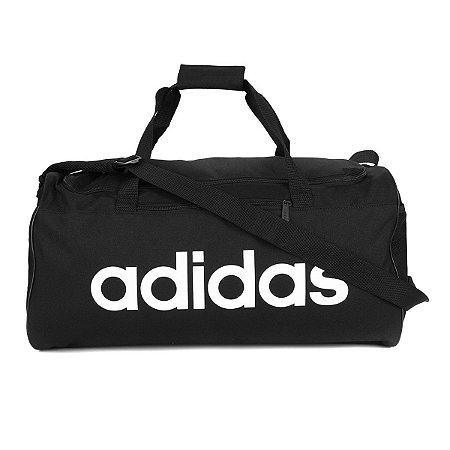 Bolsa Adidas Duffel Linear Core Preta