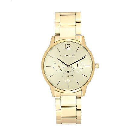 Relógio Lince Feminino Dourado LMGJ087LC2KX