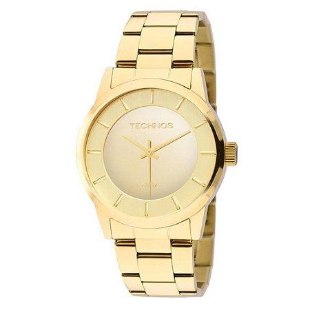 Relógio Technos Feminino Dourado 2035LQA4D
